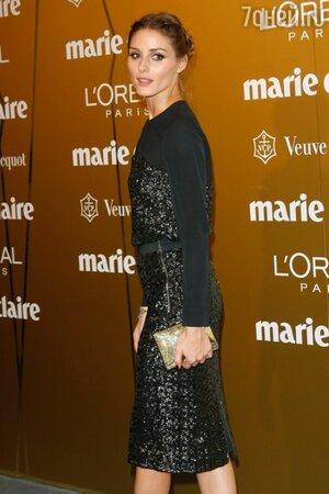 Оливия Палермо в платье от Whistles и золотистым клатчем на премии Fashion Prix Awards 2013