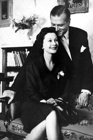 Вивьен Ли и Лоуренс Оливье. 1956 г.