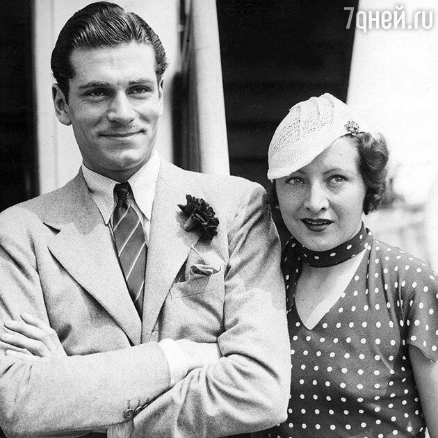 Лоуренс Оливье и Джилл Эсмонд. 1933 г.