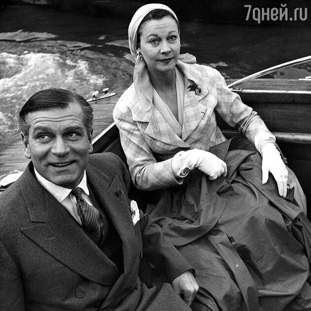 Вивьен Ли и Лоуренс Оливье. Конец 1950-х гг.