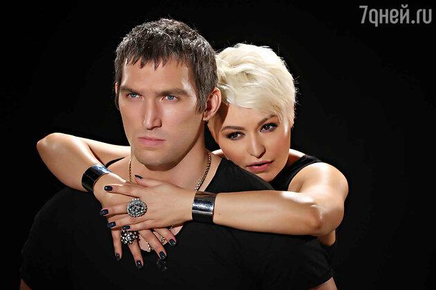 Катя Лель и Александр Овечкин на съемках клипа «Пусть говорят»