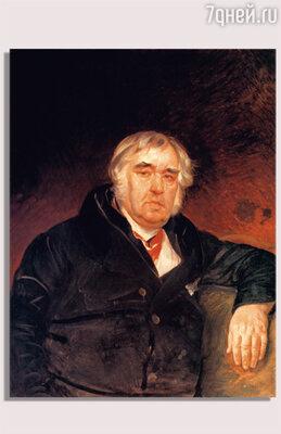 К. Брюллов. «Портрет Ивана Андреевича Крылова». 1839 г.