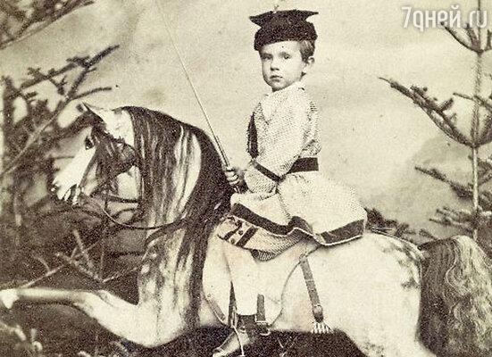 Сын императрицы Сиси и Франца Иосифа — наследник австрийского престола принц Рудольф.