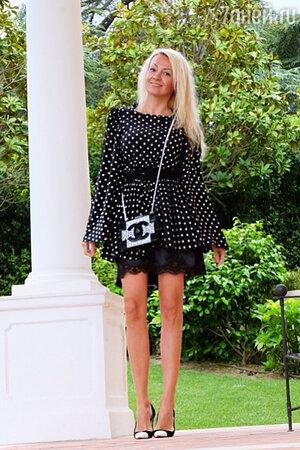 Яна Рудковская в платье от Dolce&Gabbana