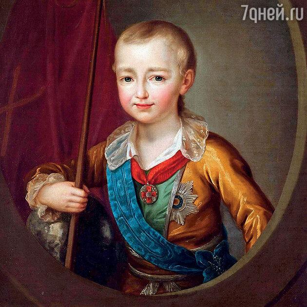 Портрет великого князя Александра Павловича в детстве работы Д.Г. Левицкого