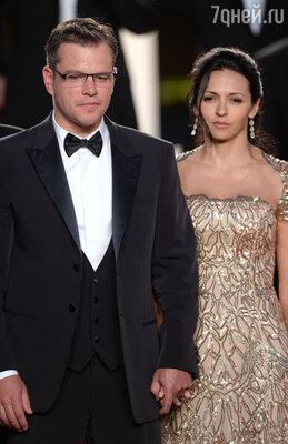 Мэтт Дэймон со своей женой