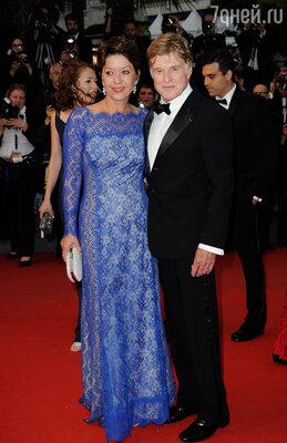 Роберт Редфорд с супругой