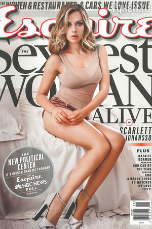 Скарлет Йоханссон на обложке журнала  Esquire