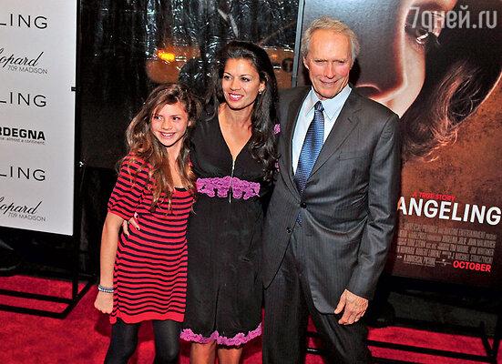 Ухажеры 17-летней Морган боятся Клинта Иствуда как огня — ведь он обожает свою дочку. Клинт Иствуд с женой Диной Руис и дочерью Мораг
