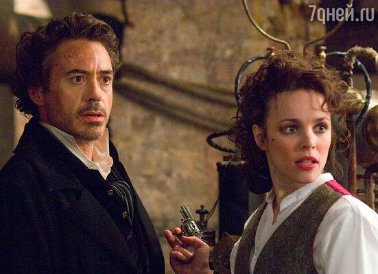 Рэйчел МакАдамс и Роберт Дауни-младший в фильме «Шерлок Холмс». 2004 год