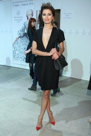 Виктория Боня на показе Mercedes-Benz Fashion Week