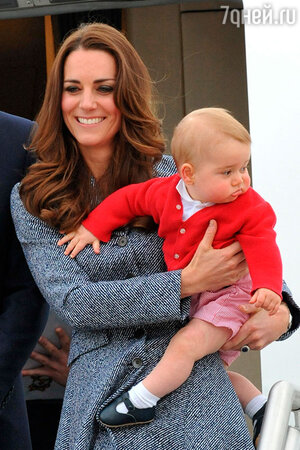 Кейт с сыном Джорджем