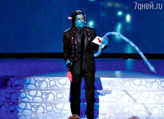 Пародия Стиллера на «Аватар», самый кассовый фильм в истории кино, вызвала бурю восторгов на церемонии вручения премии «Оскар». Лос-Анджелес, 7 марта 2010 г.