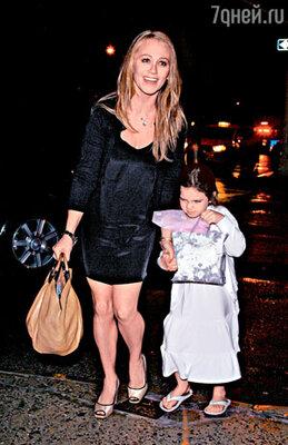 Жена Кристин с дочкой Эллой Оливией. Нью-Йорк, август 2008 г.
