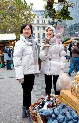 От рождественских подарков и сувениров на улицах Будапешта глаза разбегаются...