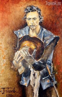 На рисунке ВиктораПавлова— Александр Лазарев-старший вспектакле «Человек изЛаманчи». 1975 г.