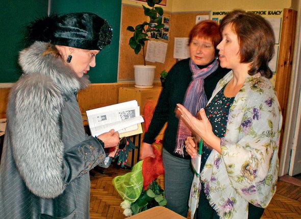 Людмила Гурченко в харьковской гимназии № 6