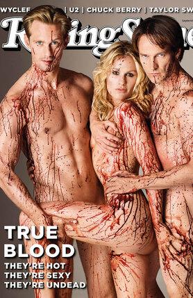 Александр Скарсгард, Анна Пэкуин и Стивен Мойер, звезды сериала «Настоящая кровь», на обложке Rolling Stone