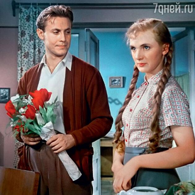 Юрий Соломин с Джеммой Осмоловской в своей первой картине «Бессонная ночь». 1960 г.