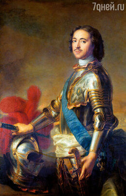 Фото репродукции картины Жан-Марка Натье «Портрет Петра I», 1717 год, Государственный Эрмитаж
