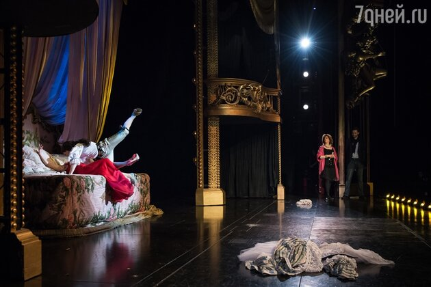 Репетиция одной из сцен