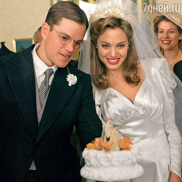 Мэтт Дэймон с Анджелиной Джоли в фильме «Ложное искушение». 2006 г.