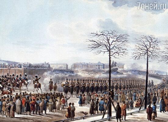 Бенкендорф всегда был рядом с государем, в том числе и во время восстания декабристов на Сенатской площади