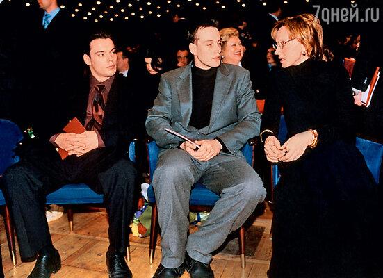 Жена Василия Семеновича Ирина Купченко и сыновья Сергей и Александр. 2004 г.
