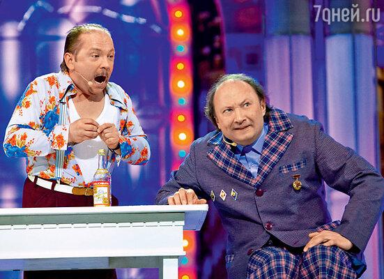 С Андреем Федорцовым в сценке из спектакля «Феномены»