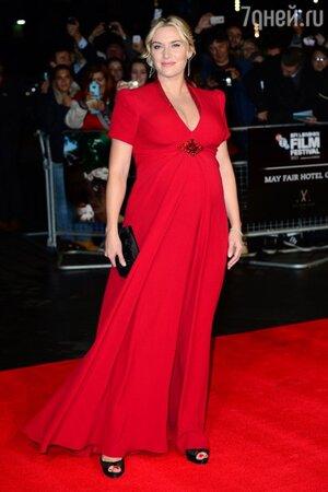 Кейт Уинслет на премьере фильма «День труда» в платье от Jenny Packham, 2013