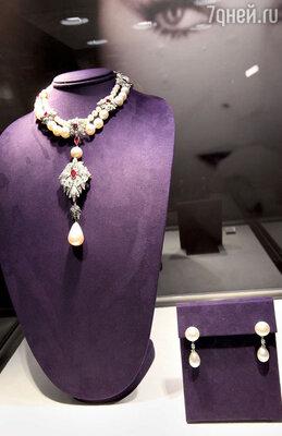 Колье с жемчужиной «La Peregrina» из знаменитой коллекции драгоценностей Элизабет Тэйлор