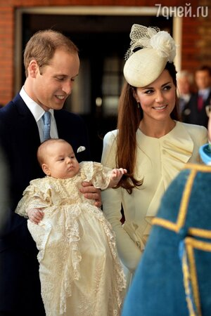 Принц Джордж, принц Уильям, Кейт Миддлтон крестины