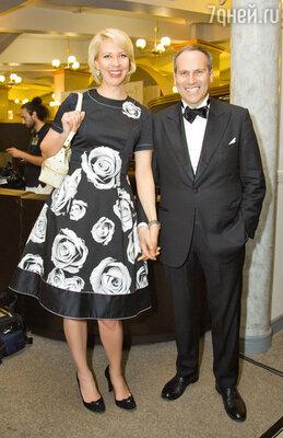 Ведущие церемонии Татьяна Лазарева и Михаил Шац