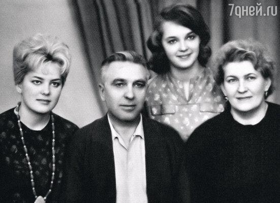 Сестра Мила, папа Федор Титович, мама Нина Николаевна и я