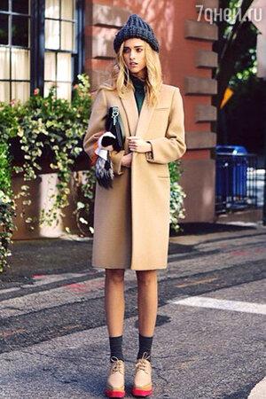 Как носить классическое пальто?