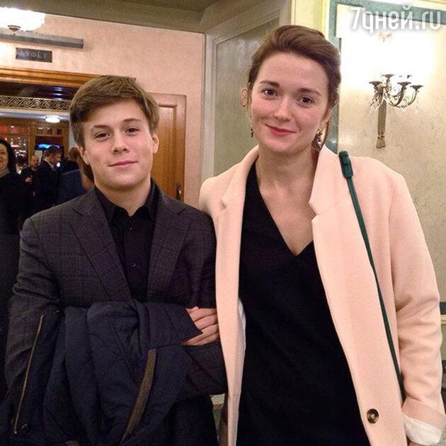 Надежда Михалкова с племянником