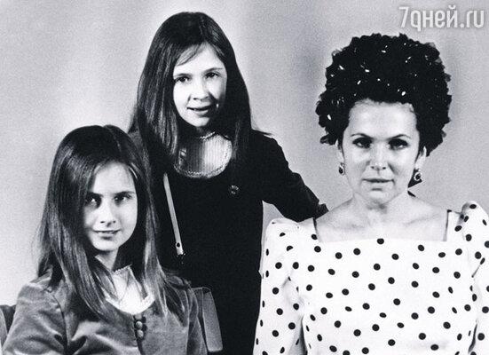 Галина Вишневская с дочерьми