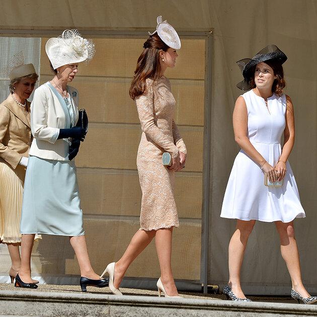 Принцееса Анна, Кейт Миддлтон, принцеса Юджиния
