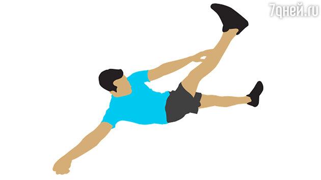 Упражнение № 5. Диагональные скручивания с подъёмом ног