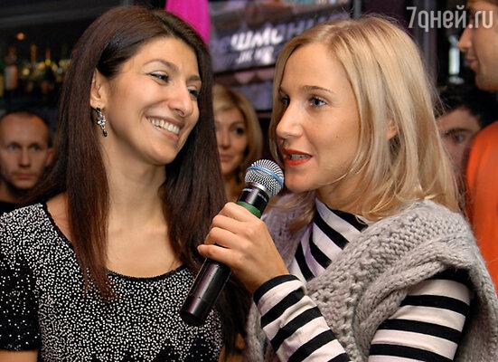 Хозяйка праздника ресторатор Гаяне Бреиова и Юлия Ковальчук