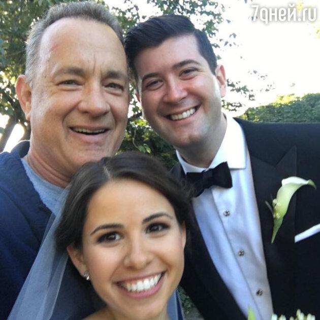 Том Хэнкс с Элизабет и Райаном