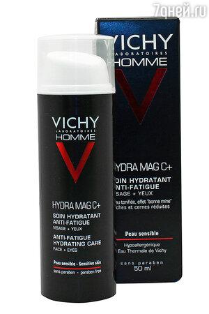 Увлажняющий мужской уход против следов усталости Vichy Homme Hydra Mag C+ для лица и контура глаз
