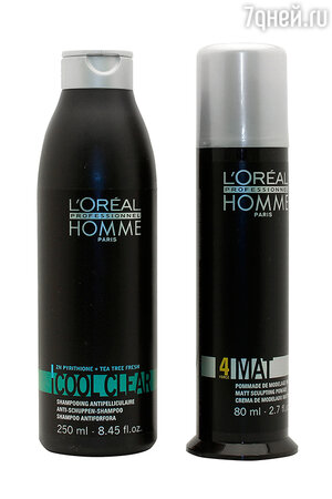 ������� �� ������� L'Oreal Homme Cool Clear �� Loreal Professionnel, ���������� ����-����� ��� ������� ����� 4Mat