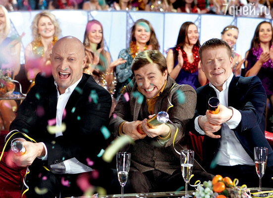 «Джентльмены удачи» Гоша Куценко, Сергей Безруков и Антон Богданов