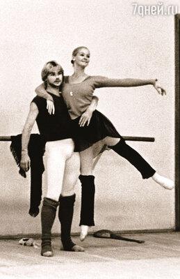 Мы с Андрисом репетируем балет «Аполло» в постановке Баланчина