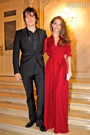 Елизавета Боярская с мужем Максимом Матвеевым