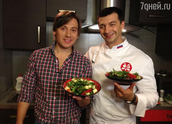 Руслан Алехно с шеф-поваром