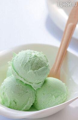 Мороженое с зеленым чаем