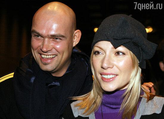 телеведущая Аврора с мужем телережиссером Алексеем Трейманом