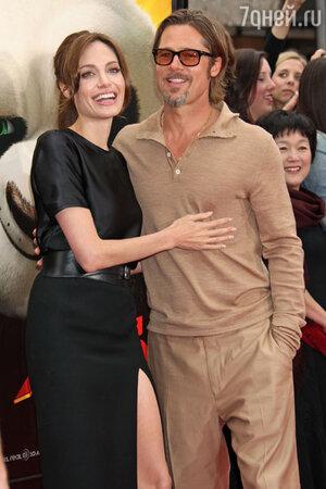 Брэд Питт и Анджелина Джоли на премьере фильма  «Кунг-фу Панда - 2», 2011 год